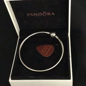 "Pandora bangle 7.5"" Sterling Silver 2 available."